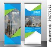 roll up business brochure flyer ...   Shutterstock .eps vector #546778012