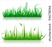 reflected vector grass pattern | Shutterstock .eps vector #54678046