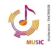 music  music icon  note  sound  ... | Shutterstock .eps vector #546785038