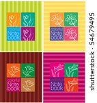 colorful notebook cover design | Shutterstock .eps vector #54679495