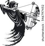 grim reaper bow hunting | Shutterstock .eps vector #546797452