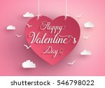 concept of happy valentine day... | Shutterstock .eps vector #546798022