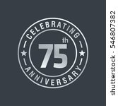 75th anniversary logo  vector... | Shutterstock .eps vector #546807382