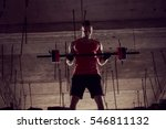 young muscular built athlete... | Shutterstock . vector #546811132