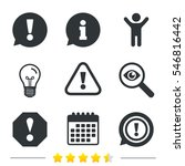 attention icons. exclamation... | Shutterstock .eps vector #546816442