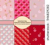 set vector seamless patterns....   Shutterstock .eps vector #546829282