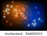 vector digital abstract polygon ...   Shutterstock .eps vector #546833515