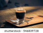 morning coffee on the terrace... | Shutterstock . vector #546839728