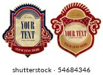 Stock vector vector image of two vintage labels 54684346