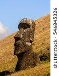 Moaia At Rapa Nui National Par...
