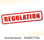 illustration of regulation text  | Shutterstock .eps vector #546847756