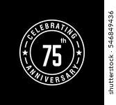 75th white anniversary logo ... | Shutterstock .eps vector #546849436
