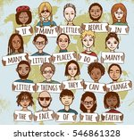 little hand drawn people... | Shutterstock .eps vector #546861328