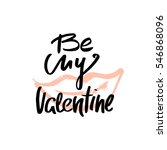 by my valentine text. love... | Shutterstock .eps vector #546868096