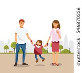 happy family | Shutterstock .eps vector #546870226