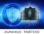 3d rendering database and... | Shutterstock . vector #546871432