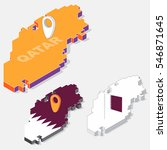qatar flag on map element and...   Shutterstock .eps vector #546871645