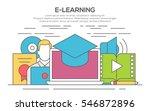 illustration of e learning... | Shutterstock .eps vector #546872896