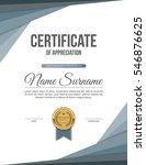 vector certificate template. | Shutterstock .eps vector #546876625