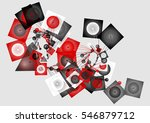 abstract geometrical unusual... | Shutterstock .eps vector #546879712