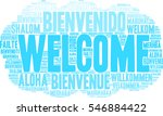 international welcome word... | Shutterstock .eps vector #546884422