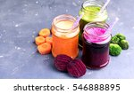 vegetables smoothies carrot... | Shutterstock . vector #546888895