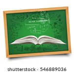 mathematical equations and... | Shutterstock .eps vector #546889036