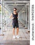 man summer casual street... | Shutterstock . vector #546903586