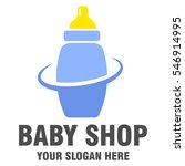 baby shop logo design | Shutterstock .eps vector #546914995