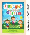 kids summer camp education... | Shutterstock .eps vector #546917815