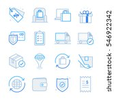 e commerce and shopping icons... | Shutterstock .eps vector #546922342