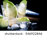 apple cocktail with rum and... | Shutterstock . vector #546922846