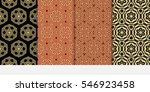 set of royal floral seamless... | Shutterstock .eps vector #546923458
