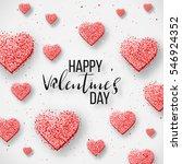 luxury elegant happy valentine... | Shutterstock .eps vector #546924352