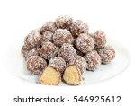 truffles   classic no bake... | Shutterstock . vector #546925612