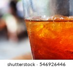 close up detail of ice tea in... | Shutterstock . vector #546926446