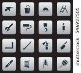 set of 16 editable apparatus... | Shutterstock .eps vector #546927505