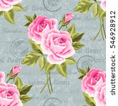 seamless floral pattern with... | Shutterstock .eps vector #546928912