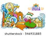 illustration of india... | Shutterstock .eps vector #546931885