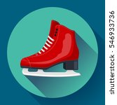 red classic ice figure skates... | Shutterstock .eps vector #546933736