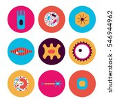 different human cell types icon ... | Shutterstock .eps vector #546944962