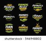 farm vector logo. farmers... | Shutterstock .eps vector #546948802