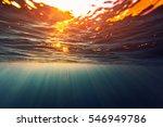 underwater shot of the sea... | Shutterstock . vector #546949786