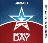 independence day design | Shutterstock .eps vector #54695380