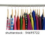 clothing on hanger in a row | Shutterstock . vector #54695722