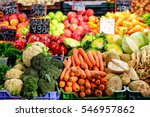 vegetables assortment at... | Shutterstock . vector #546957862