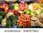 vegetables assortment at... | Shutterstock . vector #546957862