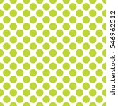 Seamless Lime Green Polka Dots...