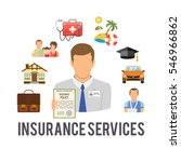 insurance services concept in... | Shutterstock .eps vector #546966862