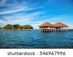 beautiful tropical resort hotel ...   Shutterstock . vector #546967996